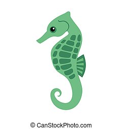 seahorse on a white background
