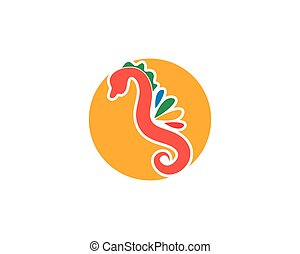 seahorse, vecteur, illustration, conception, icône