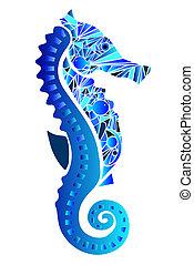 seahorse, vector, ilustración