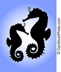 A couple of seahorses
