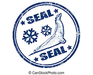 Seal animal stamp
