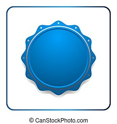 Seal award blue icon