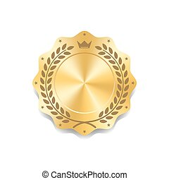 Seal award gold icon Blank medal - Seal award gold icon....