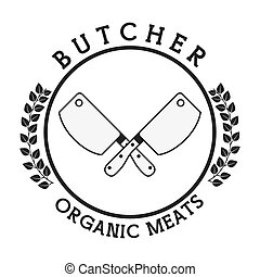 seal butcher design, vector illustration eps10 graphic