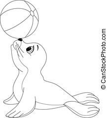 Seal Family Coloring Page Seal With Its Seal Pup
