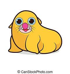 Seal cute cartoon