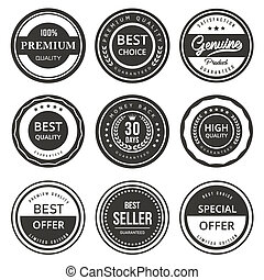 Seal labels vector quality product