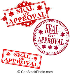 Seal Of Approval Stamp - Seal of approval. Rubber stamp...