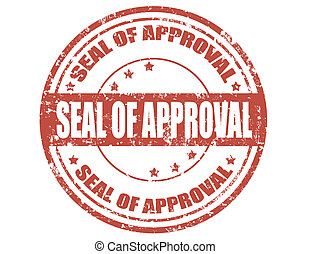 Grunge rubber stamp with text Seal of approval, vector illustration