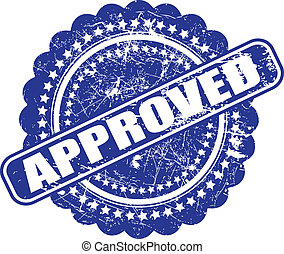 Seal of approval(quality check) grunge vector on white...