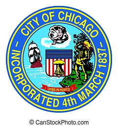 Seal of Chicago, Illinois, USA. Vector Format.