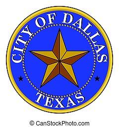 Seal of Dallas, Texas, USA. Vector Format.
