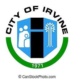 Seal of Irvine, California, USA. Vector Format.