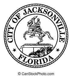 Seal of Jacksonville, Florida, USA. Vector Format.