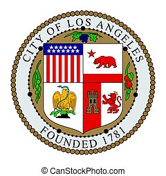 Seal of Los Angeles, California, USA. Vector Format.