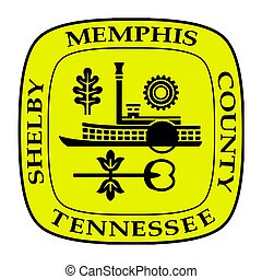 Seal of Memphis, Tennessee, USA. Vector Format.