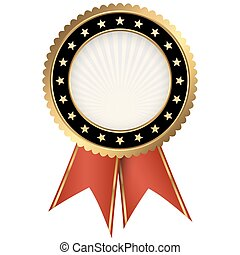 seal of quality black with ribbons
