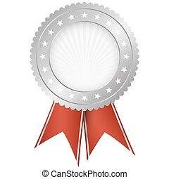seal of quality silver with ribbons - silver seal of quality...