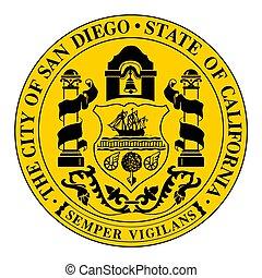 Seal of San Diego, California, USA. Vector Format.