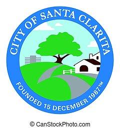 Seal of Santa Clarita, California, USA. Vector Format.