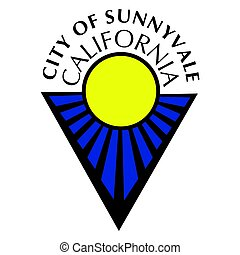 Seal of Sunnyvale, California, USA. Vector Format.