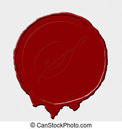seal paper - A wax seal image on white scroll paper