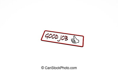 Seal stamp quality good job luck guaranteed continue
