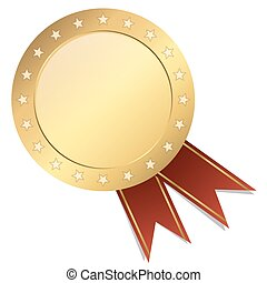seal template gold with banner