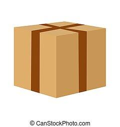 Seal the cardboard box to move.
