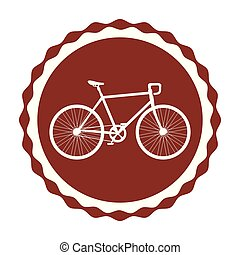 seal with racing bicycle