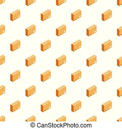 Sealed box pattern seamless vector