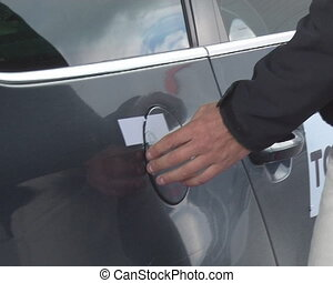 Sealed car petrol tank unsealing. Eco Rally.