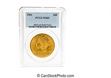 Sealed dollar gold coin 1904 - Sealed dollar gold coin PCGS...