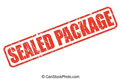 SEALED PACKAGE red stamp text