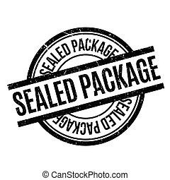 Sealed Package rubber stamp