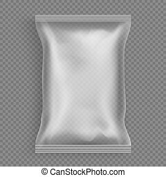 Sealed plastic sachet for product packaging vector -...