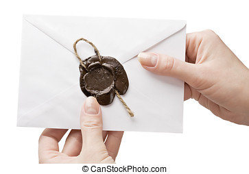 envelope in his hand