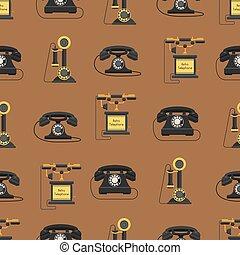 sealess, アイコン, ベクトル, 電話, パターン