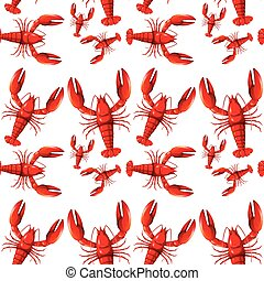 Sealess red lobster background
