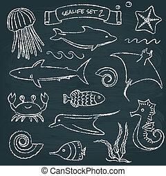 Sealife chalkboard set 2
