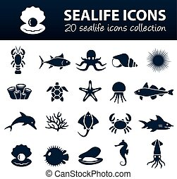 sealife, iconos