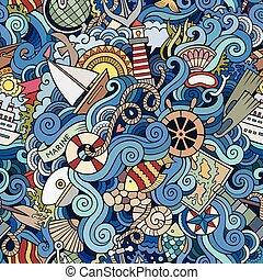 sealife, motívum, tengeri, seamless