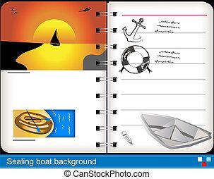 Sealing boat background