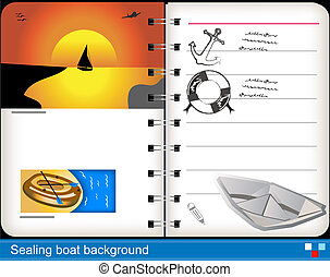 Sealing boat background