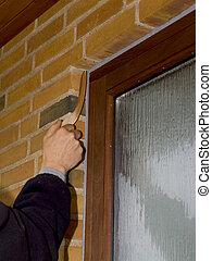 sealing window frame
