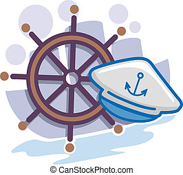 ... Seaman Icon - Illustration of Icons Representing Seamen