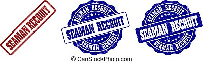 SEAMAN RECRUIT Scratched Stamp Seals