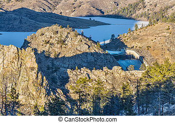 Seaman Reservoir in Rocky Mountains