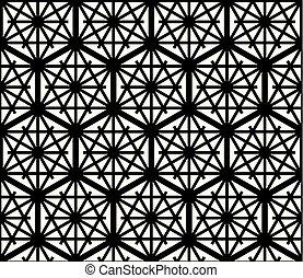 Seamles geometric ornament based Kumiko - Seamless geometric...