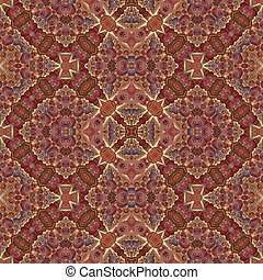 Seamles mosaic kaleidoscopic fractal in medieval style